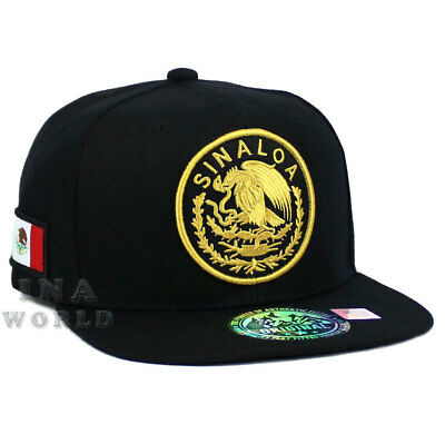 MEXICAN hat MEXICO Federal State Logo Snapback Flat bill Baseball cap- SINALOA