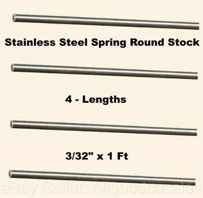 Stainless Steel Spring Round Stock 4 - Lengths 332 X 1 Ft 302 Alloy Rods