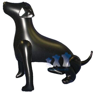 Inflatable Mannequin Large Dog Sitting Black