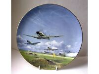 """Coalport Bone China Plate """"Spitfires"""" commemorating the 50th Anniversary of the Battle of Britain"""