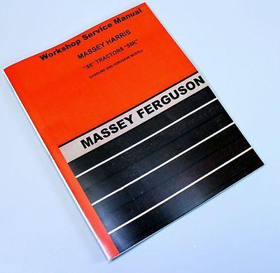 Massey Harris 55 55k Tractor Service Manual Repair Shop Workshop Ferguson