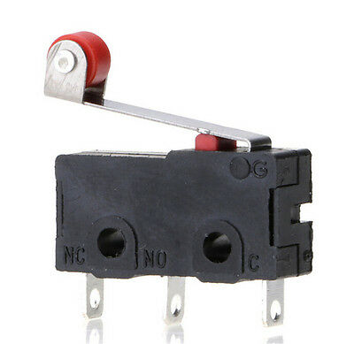 5pcsset Micro Roller Lever Arm Open Close Limit Switch Kw12-3pcb Microswitch Hw