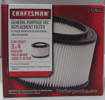 Craftsman 3 to 4 Gallons Replacement Filter 17810