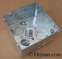 "Orjuan.com Thomas&Betts Electric Switch Box 4"" SQ. 2 1/8"""