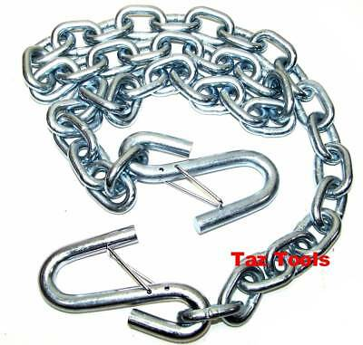 "1/4""x4ft Trailer Safety Chain with S-Hooks Safety Latches Towing Hitch Pulling"