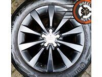 """17"""" Genuine Audi alloys Passat Superb Trafic Vivaro excel cond premium tyres."""