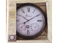 Indoor/Outdoor Clock and Weather Station - still in packaging