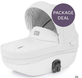 White leather 3in1 pram brand new never been used