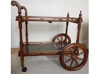 Vintage - Indian Carved Tea Trolley