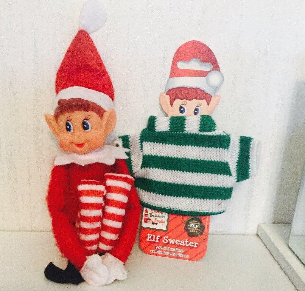 Elf behaving badly Xmas jumper