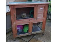 Double level hutch suitable for guinea pigs, young chickens etc.