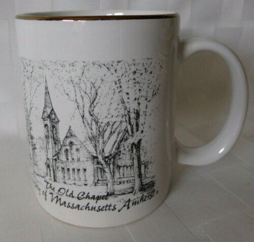 Vintage Mug ~ THE OLD CHAPEL ~ University of Massachusetts Amherst ~ Gold Trim
