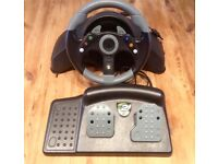 Xbox 360 steering wheel and pedals , Mad Catz 2