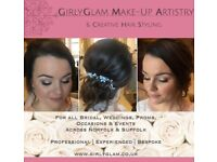 GirlyGlam - Wedding, Bridal, Occasion & Event Make-Up & Hair-Up Service in Norfolk & Suffolk.