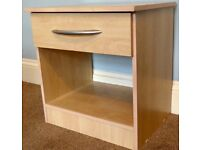 Bedside Cabinet / Bedside Table1 Drawer with Metal Handle H20in/51cmW19.5in/49.5cmD15.5in/39cm