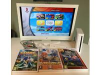 Nintendo Wii with Mario & Sonic Games