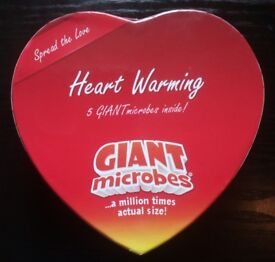 5 Heart Warming 'Giant Microbes' In Gift Box (as new)