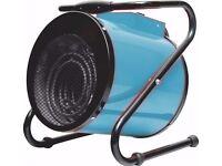 Industrial Warehouse Cylinder Electric 3 kW Fan Space Heater Workshop - Portable & Tilt Adjustable