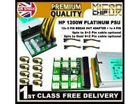 HP PSU 1200W Platinum Hot Plug DPS-1200FB PSU with Break out board crypto mining