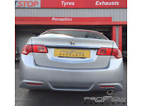 Honda Accord Back Box Delete (Back Box Removed) with Custom Stainless Steel Tail Pipe