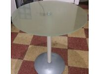 Ikea Frosted Glass Top Circular Table /Telephone Stand