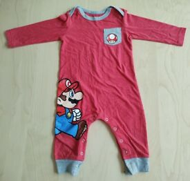 Nintendo Super Mario Long Sleeve Baby Clothes 12 Months
