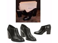 Clarks 'OTHEA ADA' Leather Ankle boots -In Black 6 & Half