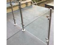 10mm toughened glass panels for sale 1000x1000 1000x900 1000x450 for balustrades Kingston area