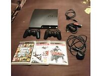 PS3 SLIM PERFECT CONDITION + 3 games