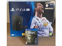 Sony PS4 Pro 1TB console + FIFA 18 & ICONS bundle + Fallout 4 - BRAND NEW AND SEALED