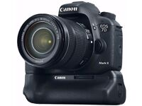 EOS 7D Mark II + BG-E16 Battery Grip + 2 x Canon LP-E6N Lithium-Ion Battery Packs - Mint Condition