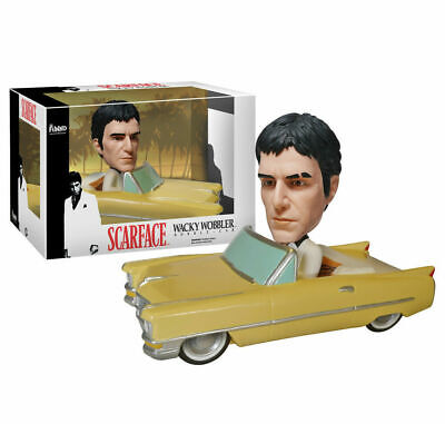 Funko Bobble Car Scarface Tony Montana W Cadillac Wacky Wobbler Bobble Head