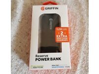 Griffin 5200 mAH Powerbank for Apple, Samsung, HTC most smartphones and tablets