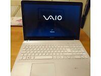 White Sony Vaio Laptop. Unboxed