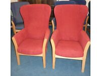 High Back Chairs still available. Various styles and colours