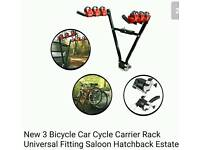 3 bike universal bike rack v type for towbar