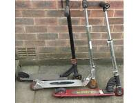 2 X SCOOTERS - £7 EACH ↔ READ THE AD ↔