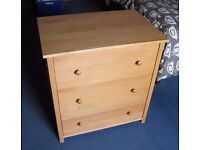 Aspace Childrens Chest of Drawers and Wardrobe - Solid Wood