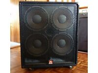 PEAVEY 4X12 BASS SPEAKER CAB - 600W RMS – MODEL 412 TXF - BARGAIN !!