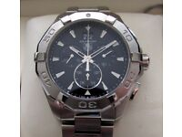 Tag Heuer Aquaracer Grande Date Chronograph Gents Watch Black CAY1110 **Buy Online**