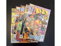 Grab bag of 5 collectible comic books.(X-men/Wolverine/E.T.C.)