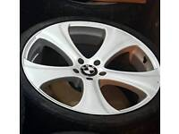 Bmw x5 22 inch alloys fit range r9ver discovery 3 4 5x120