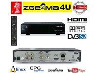 Zgemma star H.2S Receiver 12 month gift warranty (500GB hard drive optional)