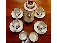 "Denby ""Potters Wheel"" Coffee set in perfect condition."