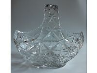 Cut Glass Fruit bowl. Large, Heavyweight Fruit Bowl for collection from Epsom area.