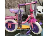 Lovely pink princess bike approx 2-4 years