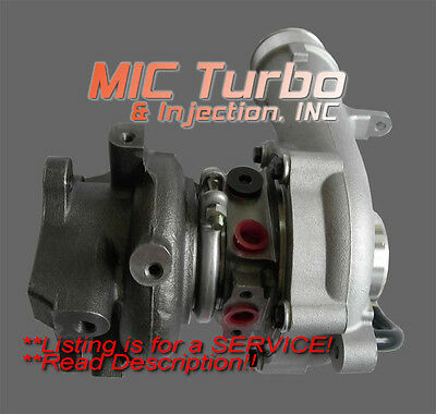 Mazda CX7 Genuine OEM Turbocharger REBUILD SERVICE 2007-2010 K0422-582 2.3L