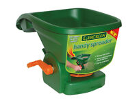 EVERGREEN HAND HELD SPREADER FOR GRASS SEED FEED FERTILISER LAWN FOOD PLANTS TURF