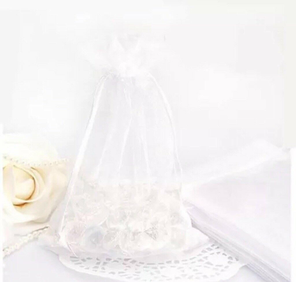 100 pcs Gauze Organza Candy Gift Bag Jewellery Packing Pouch Wedding Party Favour
