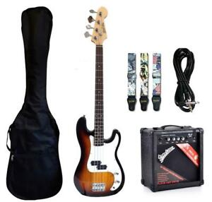 Bass Guitar Package with Amp, Gig bag, Strap, Patch Cord iMEB808PK